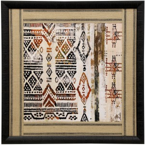 African Patterning II Framed Print Under Glass