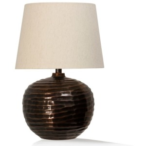 Antique Brass Embossed Table Lamp