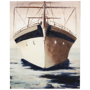 High Seas Awaits This Majestic Vessel On Canvas