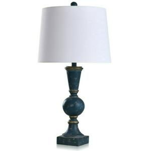 Bordini Blue Distressed Bannister Table Lamp