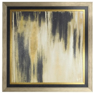 Gold Passage II Textured Print Custom Framed