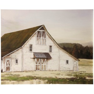 Ole Blanc Barn Stretched Canvas