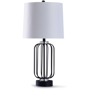 Dayton Black Metal Wire Table Lamp
