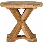 Modena End Table - Natural Teak