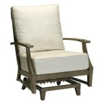 Croquet Aluminum Spring Lounge Chair