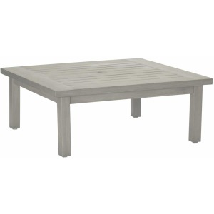 Club Aluminum Square Coffee Table - Oyster