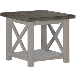 Cahaba End Table - Slate Gray Oyster
