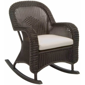 Classic Wicker Plantation Rocker - Black Walnut