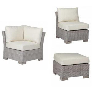 Club Woven 3PC Outdoor Furniture Set - Oyster