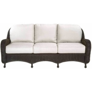 Classic Wicker Sofa - Black Walnut