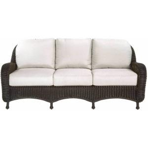 Classic Wicker Sofa - Black Walnut
