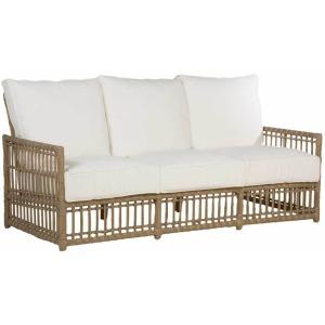 Newport  Sofa Frame w/Cushions - Burlap Resin