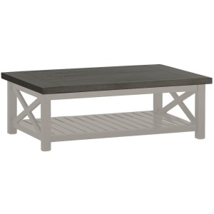 Cahaba Coffee Table - Slate Gray/Oyster