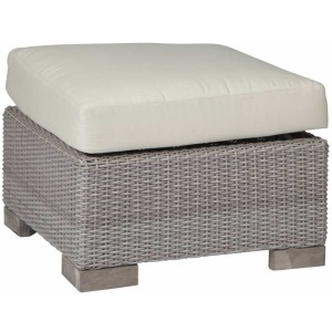 Club Woven Ottoman - Oyster
