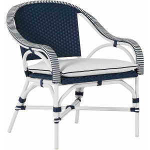 Savoy Lounge Chair - Chalk And White & Navy