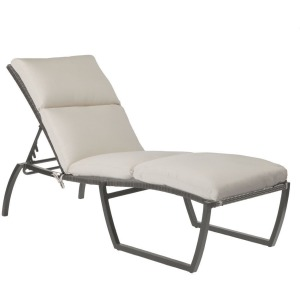 Skye Chaise Lounge - Oyster Finish