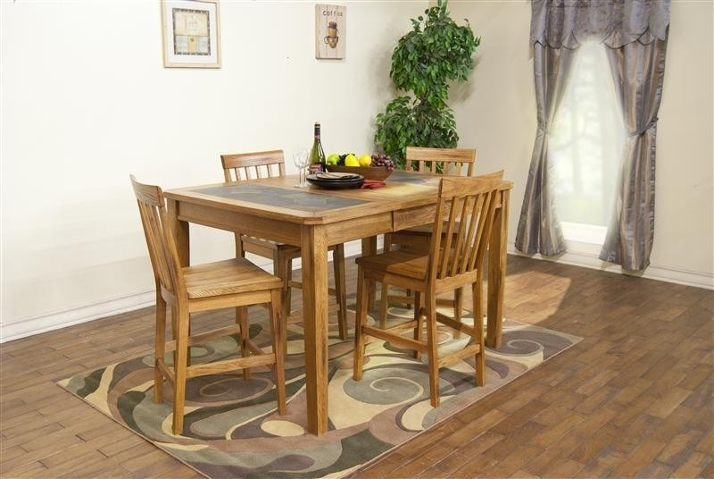 Sedona Counter Height Table W Slate Top By Sunny Designs 1274ro Bruce Furniture Floor Covering