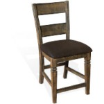 "24""H Homestead Ladderback Barstool w/ Cushion Seat"