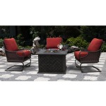 Oceanside Firepit and Spring Chairs