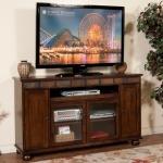 Santa Fe TV Console w/Pullout Tray