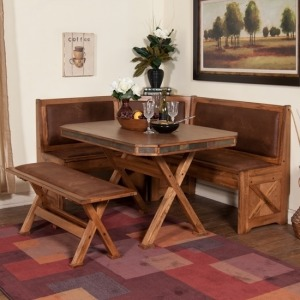 Sedona Breakfast Nook Set w/Side Bench 4pc/set