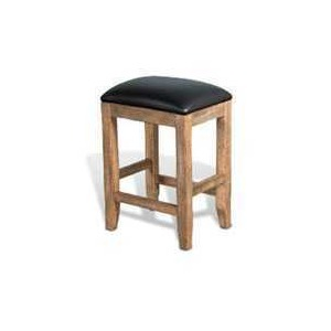 "24""H Puebla Stool w/ Cushion Seat"