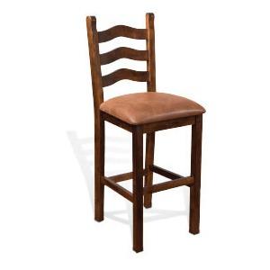 """30""""H Santa Fe Ladderback Barstool Cushion Seat"""