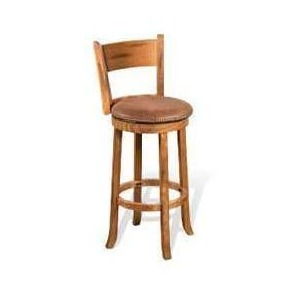 "30""H Sedona Swivel Barstool, Cushion Seat"