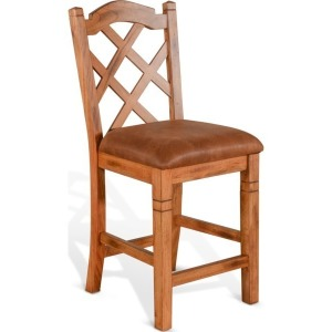 "Sedona 24""H Double Crossback Barstool"