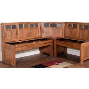Bench/Long & Corner Wood Seat