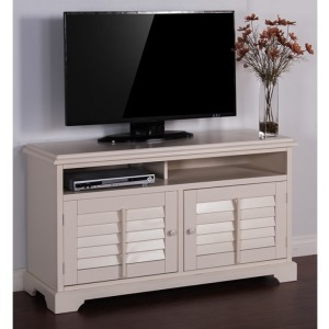"Vintage White 54"" TV Console"