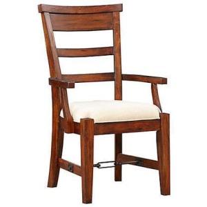 Tuscany Ladderback Arm Chair w/ Cushion Seat