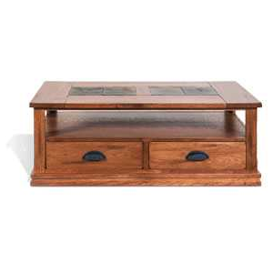 Sedona Coffee Table w/Drawers & Casters