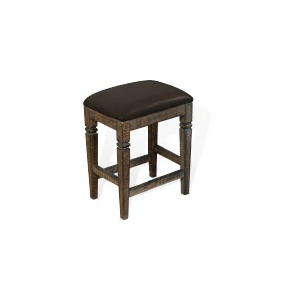 "24""H Homestead Stool w/ Cushion Seat"
