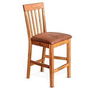 "Sedona 24""H Slatback Barstool Cushion Seat"