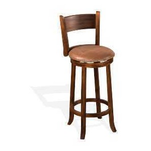 "30""H Santa Fe Swivel Barstool, Cushion Seat"