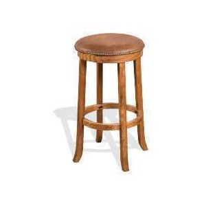 "30""H Sedona Swivel Stool w/ Cushion Seat"