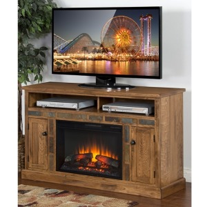 Sedona Fire Place/ TV Console w/Fireplace insert