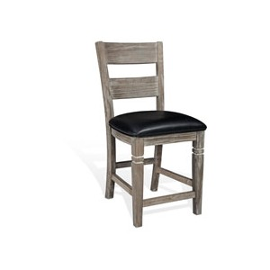 "24""H Pinehurst Ladderback Barstool, Cushion Seat"