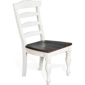 Carriage House Ladderback Chair w/Wood Seat