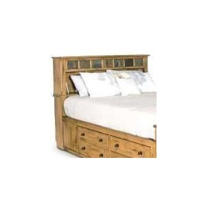 Sedona Queen Headboard w/ Storage & Sliding Door