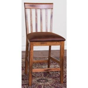 Sedona Slatback Barstool w/ Cushion Seat