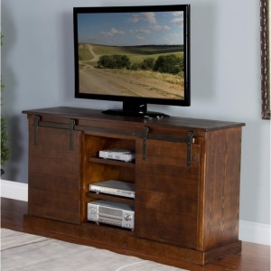 "65"" TV Console with Barn Door"
