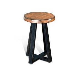 Chapel Hill Live Edge Etagere Round Table