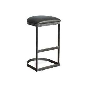"30""H Metal Stool w/ Black Cushion Seat"