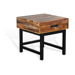 Havana End Table (Wood Base)