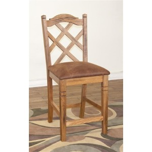 Double Crossback Stool Sedona