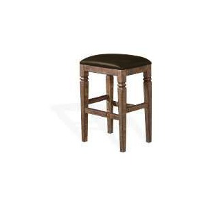 "30""H Homestead Stool w/ Cushion Seat"