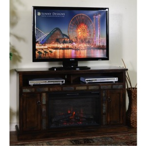 Santa Fe Fire Place TV Console