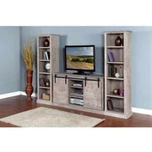 Mountain Smoke Barn Door TV Console